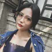 Korean version of the personality of the metal frame of the eye of the female retro gold pan blue rimmed glasses decorated round face degree