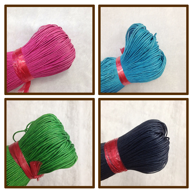 Taiwan imported wax wax wire rope hand woven DIY line cord wax 1.0mm 1 yuan 2 meters wholesale color
