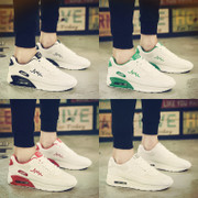 A couple of sport shoes shoes leisure shoes increased Korean tide running shoes all-match spring white shoes