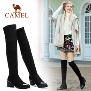 Camel/ camel shoes new winter fashion boots boots with thick elastic cloth thin knee long canister boots