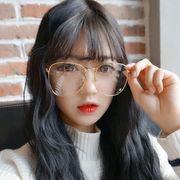 Korean street beat big box face thin glasses frame retro metal round flat round female frame glasses men tide
