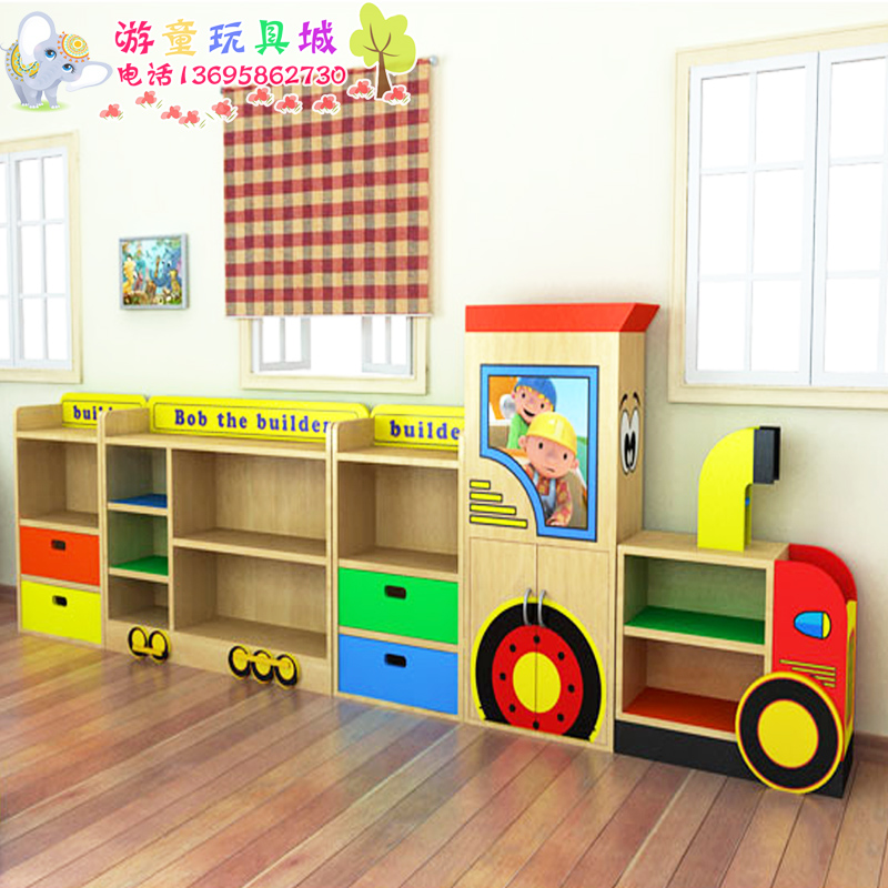 Cartoon locker Cabinet laminate cupboard kindergarten children's toy Cabinet laminate cabinets