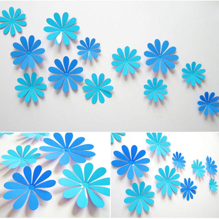3D立体墙贴纸小花朵客厅电视背景墙壁装饰品贴花墙面创意贴画家居