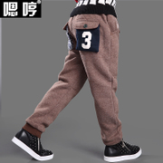 The boy pants with velvet winter 2016 new children 12 years old child trousers 10 sport 15 boys thick trousers