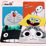 Mengtian simple cartoon mouse pad cute cartoon small fresh mouse pad thickening environmental natural rubber game
