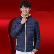 Spring men thin jacket male hooded thin young students Levis short young men jacket