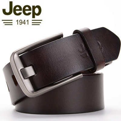Quality goods bought new jeep jeep belt man leather belt leisure joker needle agio layer of pure cow leather belt