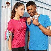 Selling 110 thousand camel outdoor sports T-shirt and sweat absorbing fast drying t-shirt t-shirt