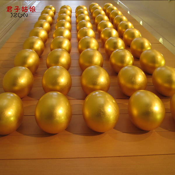 Smashed plaster pure golden eggs packed raffle items wedding special gift Chongqing factory direct wholesale