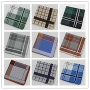Handkerchief style 5 Pack email classic Plaid handkerchief 60 quality combed cotton men's handkerchiefs