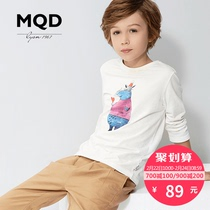 MQD kids boys printed t-shirt long sleeves cotton 2016 big children cartoon shirt for children with play top