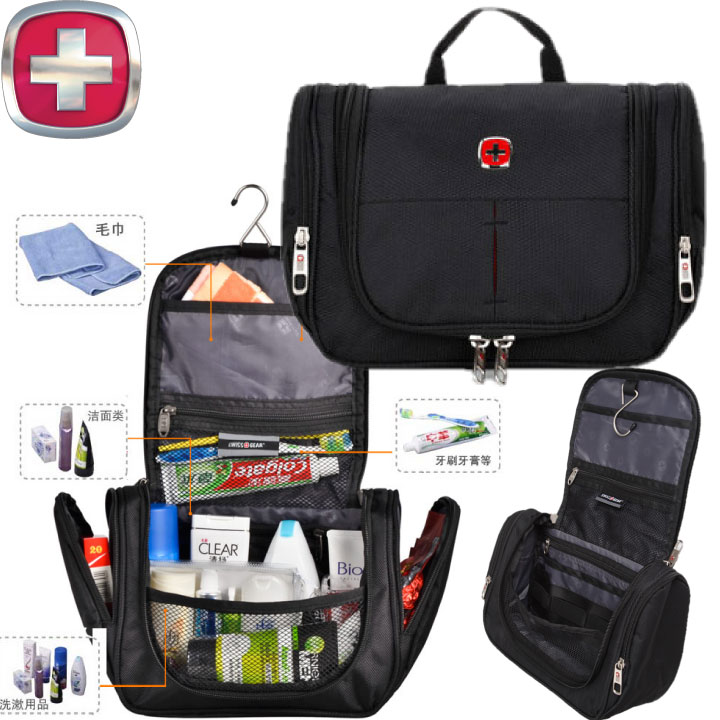 Genuine Swiss army knife large capacity wash bag large travel storage cosmetic  bag men and women e72d8445a7981