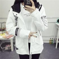 Korean BF Baseball Jersey 2016 new women students in autumn and winter casual relaxed Joker jacket thick jacket wave