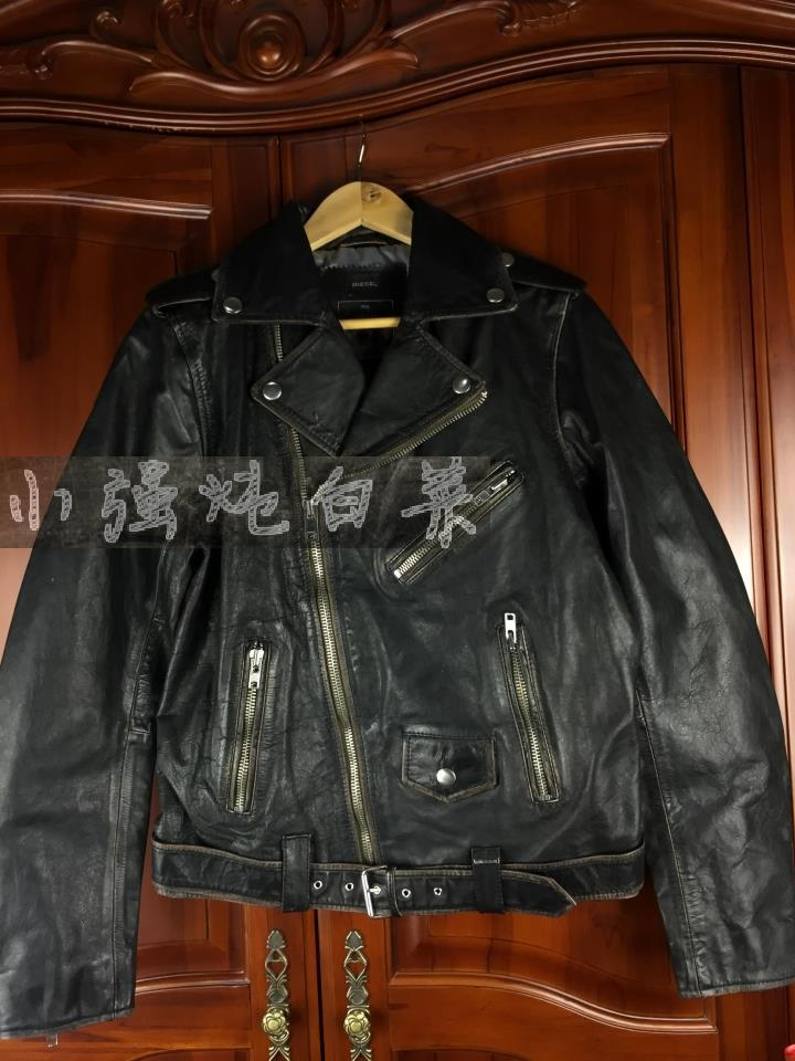 Shanghai spot DIESEL, L-Umenirok, JACKET, Diesel, men's motorcycle, old leather clothes