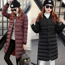 Ladies winter 2016 new tide in the Korean version of the round collar coat women long slim padded jacket dress winter coats