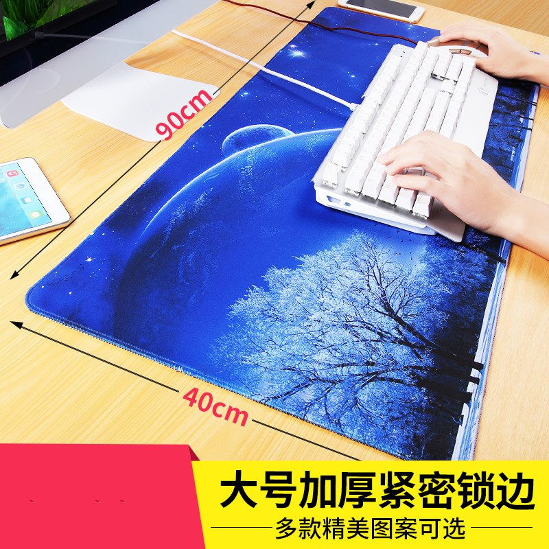 Desk computer desk pad pad pad household mouse pad super cute cartoon book desktop keyboard pad