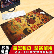 Mouse pad bar large game cartoon notebook computer keyboard lock office thick mat slip