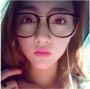 Korean retro tide round glasses frame female big box all-match man flat frame can be anti radiation glasses