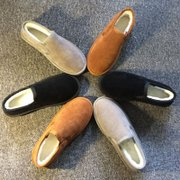 Warm winter shoes size female 40-43 with cashmere thickened shallow mouth of a pedal shoes female winter lazy boots