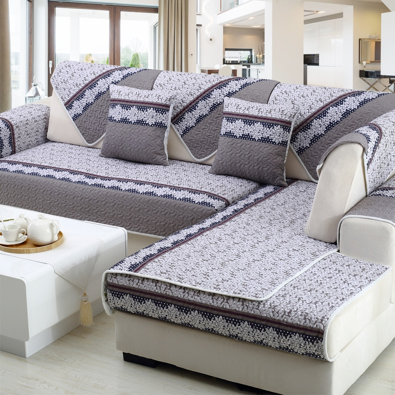 Simple modern sofa cushion fabric, four seasons antiskid cushion, combination sofa set, sofa towel, sofa cover, imperial concubine custom