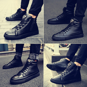 Crocodile in autumn and winter men's casual shoes Korean fashion shoes shoes men boots increased hip hop