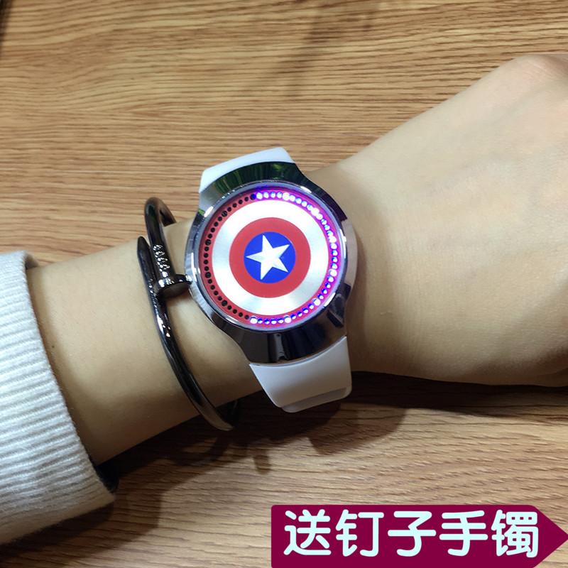 创意个性智能发光led触摸屏手表男女学生硅胶防水星空情侣电子表