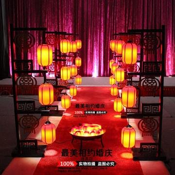 铁艺路引中式复古羊皮灯笼宫廷中式婚礼屏风路引宫灯路引婚庆道具