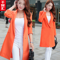 2017 years with new plus size womens clothing long minor suit in the Korean version of the female temperament slim leisure jacket suit