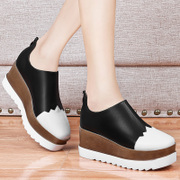 In the spring of 2017 new platform shoes British style shoes high-heeled shoes leisure shoes' documentary slope