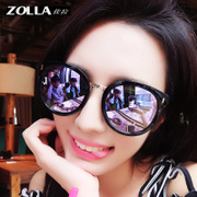 2017 new Polarized Sunglasses female tide Sunglasses South Korea big frame round face star with the same glasses glasses