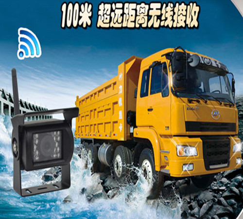Crane Trailer 100 meters wireless truck traveling data recorder image one car 7 inch display