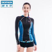 Decathlon's flagship sunscreen suit female body surfing long sleeved swimsuit jellyfish clothes quick drying TRIBORD-S