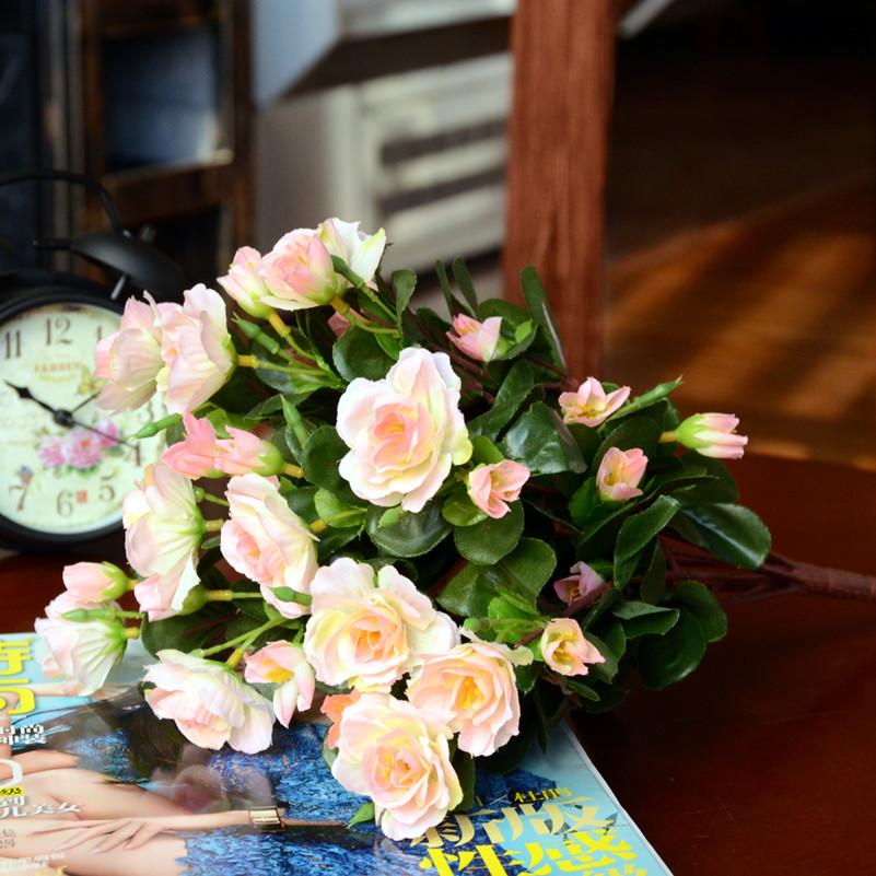 仿真杜鹃花映山红卧室假花客厅绢花饰品婚庆塑料花家居装饰品摆件