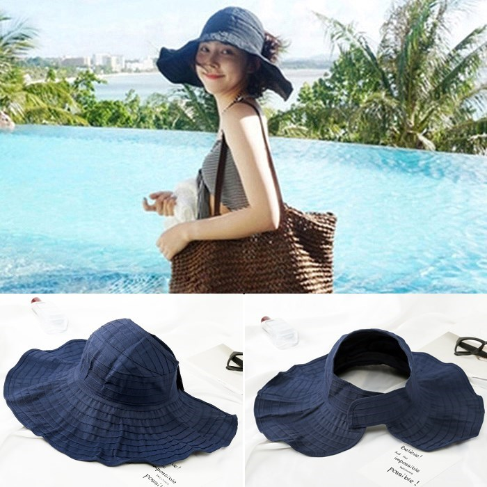 Korean Air hat children summer sun beach hat hat Travel Folding UV sun hat