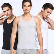 Yu Zhaolin's cotton vest youth movement stretch vest cotton sleeveless T-shirt white male shirts in summer