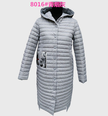 2016 new winter hooded fashion lady Tanboer printing long down jacket TB3650