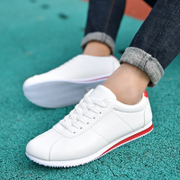 2017 spring Korean fashion shoes men's casual shoes, white shoes, men's shoes, men's shoes Agam