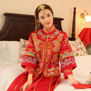 He served a Chinese dragon show bride wedding dress wedding dress cheongsam toast 2016 new autumn and winter show kimono