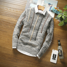 Young men fall in the autumn of 2017 new sets of head neck all-match men sweater jacket slim Korean Trend