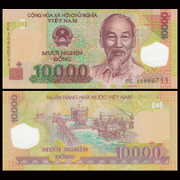Asia new Vietnam 10000 shield plastic notes foreign currency 2011-15 P-NEW