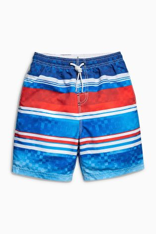 The British NEXT Childrens Boys male baby color stripe pattern bandage trunks Hongkong purchasing