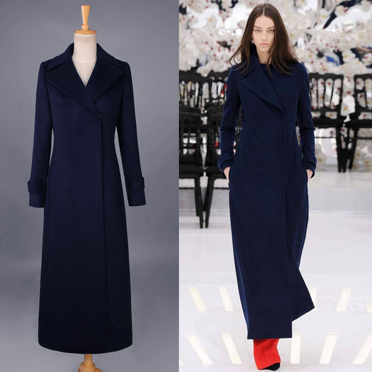 Europe and the United States star Belle sister-in-law with the same type of wool self-cultivation women's coat double-sided cashmere double-sided advanced custom new