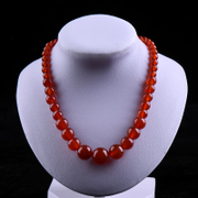 Limited-time tao is coming to an end a dollar auction red agate necklaces for women tower of red agate beads necklace benmingnian