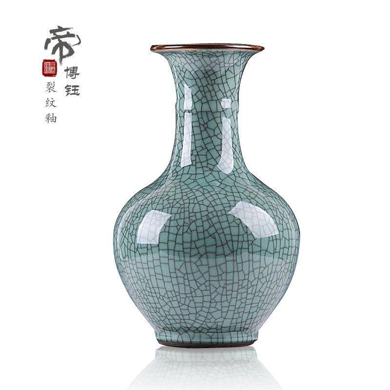 Sell lots of jingdezhen ceramics Guanyao open piece of blue glaze high-end antique vase Classic and modern home sitting room set