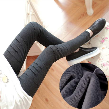 2015 pregnant women qiu dong outfit leggings with velvet thickening hole in pregnant women show thin pregnant women pants pants joker