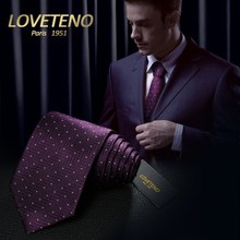 LOVETENO tie new men's silk mulberry silk dress business 9cm occupation work all-match gift box