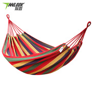 Hammock outdoor camping swing indoor single double thickening canvas hammock dormitory dormitory dormitory anti rollover hanging chair