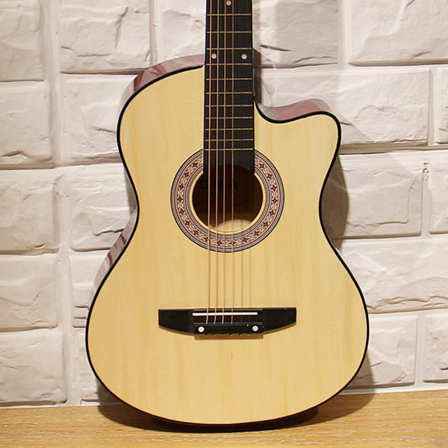 Classic 38 inch acoustic guitar for beginners getting started practicing guitar sent a full set of new accessories