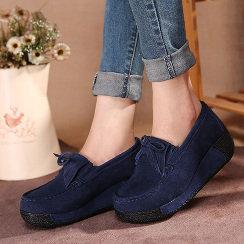 Autumn and winter with warm velvet bow round flat slope with thick soled shoes slip shoes shoes size Doug Ms.