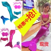 Mermaid tail ETUDE elastic swimsuit with webbed feet SPA service studio girls clothing swimsuit for children